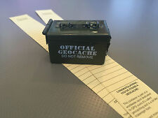 Micro Ammo Can Cache with log sheets