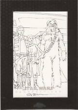 """Star Wars Chrome Perspectives - Roy Cover """"Heroes on Yavin"""" Sketch Card"""