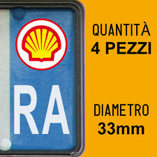 Kit 4 ADESIVI PER TARGA SHELL plate auto moto Europa custom stickers decals
