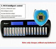 New 16 solts LCD Smart Battery Charger AA AAA Ni-MH Ni-Cd 16-bay 16-Slot 16-Bank
