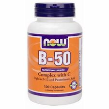 Now Foods B-50, 100 Caps Vitamin B-Complex NERVOUS SYSTEM SUPPORT, ENERGY