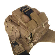 600D Nylon Molle Tactical Utility Shoulder Bag Pack Pouch Backpack Earth New