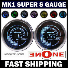 52mm MK1 Tinted Glass 7 Color 60psi Boost + 2400 EGT Pyrometer Diesel Gauges