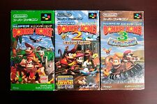 Super Famicom SFC Super Donkey Kong 1 2 3 Country Boxed Japan game US Seller