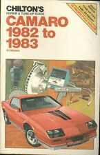 CHEVROLET CAMARO COUPE 151 , 173 & 305 ci ( 1982 - 1983 ) OWNERS REPAIR MANUAL
