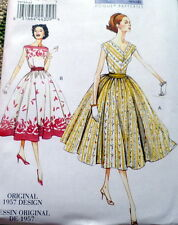 1950s VOGUE VINTAGE MODEL DRESS SEWING PATTERN 14-16-18-20-22 UC