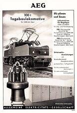 1951 AEG Tagebaulokomotive 100 t  1435 Spur ca. 20x29 cm original Printwerbung