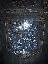 Ed Hardy Size 24 Flare Stretch Denim Womens Jeans