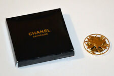 AUTH CHANEL SUBLIMAGE GOLD DISC CAMELLIA PIN BROOCH BNIB