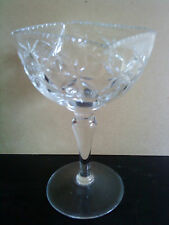 Vintage Deep Cut Webb Corbett Lead Crystal Glass long stemed footed candy bowl