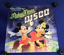 vintage 1979 Walt Disney Mickey Mouse Disco LP PROMO POSTER 22x22in Minnie