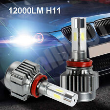2x H11 120W 12000LM 4-side LED Headlight Bulb Kit Xenon White 6000K High Power