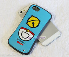 Cute glossy Blue Doraemon cat soft rubber extra bumper case cover iPhone 5/5s