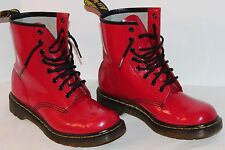 DR MARTENS 1460 W LEATHER AIR WAIR WOMEN'S BOOTS 8 US 6 UK RED 8 EYELET VG/EXUC