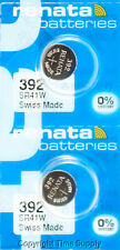 2 PC Renata 392 Watch Batteries Swiss SR41W FREE SHIP 0% MERCURY