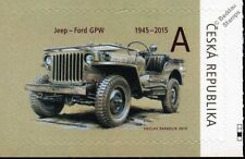 Willys Mb Jeep / Ford Gpw Wwii Us Army vehículo coche Sello (2015 República Checa)