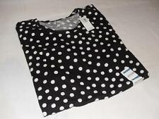 New Women's Old Navy Black and White Polka Dot T-Shirt - Size L - NWT