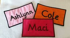 Custom Embroidered Name Patch Iron On 1x2 Mini Patch
