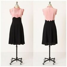 GIRL FROM SAVOY ~ Size 4 ANTHROPOLOGIE Swinging Sweetheart Dress PINK Black