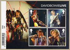 2017 DAVID BOWIE LIVE Mini Sheet Mint - WITH BARCODE MARGIN