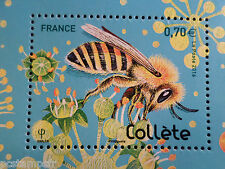 FRANCE 2016, TIMBRE INSECTES, ABEILLE COLLETE, BEE, neuf**, VF MNH STAMP