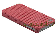 for iphone 4 4s perforated light weight case and screen protector six color /