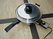 "Webalco West Bend Liquid Core Stainless Steel 11"" Electric Skillet 7230E"
