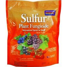 BONIDE SULFUR PLANT FUNGICIDE MICRONIZED SPRAY OR DUST 4 LBS SAME DAY SHIPPING