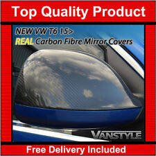 NEW VW TRANSPORTER T6 15  REAL CARBON FIBRE MIRROR COVERS CARAVELLE NOT CHROME