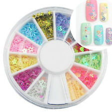 3D Nail Art Charms Resin Glitter Rhinestone Star Heart Acrylic UV Gel Tips