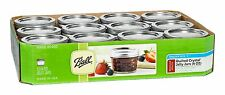 Quilt Jars Set 12 Pack 4 oz with Lids and Bands Ball Mason Wide Mouth Kitchen XO