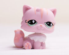 *Littlest Pet Shop* LPS Pink Persian Cat with Green Diamond Eyes #460