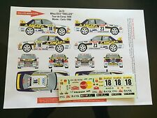 DECALS 1/24 MITSUBISHI LANCER TRELLES RALLYE MONTE CARLO 1999 WRC RALLY