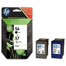 HP 56+57 Black & Colour twin Genuine Deskjet t Ink Cartridges SA342AE 5510 NEW
