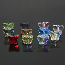 72 pieces  Swarovski  5x6x10mm Butterfly Crystal beads Mixed-colored