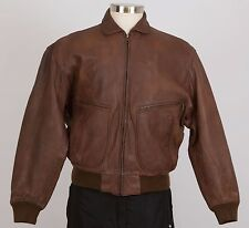 BANANA REPUBLIC Men's Leather Jacket Size 38 Small S Brown