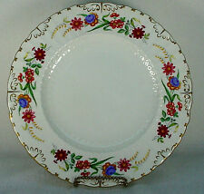 """ROYAL CROWN DERBY china CHATSWORTH pattern Dinner Plate @ 10 3/8""""- crazed"""