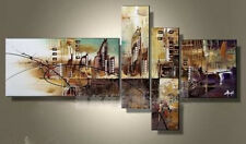 HUGE MODERN ABSTRACT WALL DECOR ART OIL PAINTING ON CANVAS (No frame)