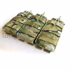 CONDOR MA27 Multicam MOLLE Triple 5.56 mm Mag Pouch open top pull tab