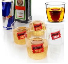 The Bombs Away Jager Bomb Shot Glasses 4 Re-useable Party Bar Drinking Jagerbomb