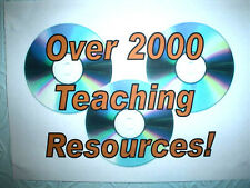 ALL-OVER 2000- OF MY VERY GOOD QUALITY TEACHING RESOURCES - A LIFE TIME'S  WORK!