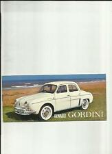 RENAULT GORDINI SALES BROCHURE EARLY 60's