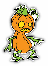 "Monster Pumpkin Spooky Cartoon Car Bumper Sticker Decal 3"" x 5"""