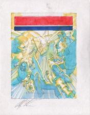 Alex Ross Signed Original Avengers Comic Cover Art Iron Man Captain America Thor