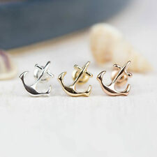 Miabel Anker Anchor Ohrstecker Ohrringe Navi Gold Filigran Statement Minimal