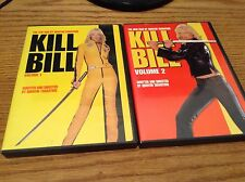 KILL BILL VOLUME 1 AND VOLUME 2 DVD - WRITTEN / DIRECTED BY QUENTIN TARANTINO