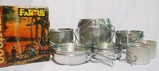 Vintage World Famous Aluminum Pots and Pans Cook Set Camping Hunting Fishing NIB