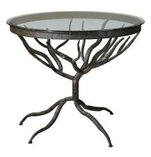 Gorgeous WROUGHT IRON Round Table TREE Kitchen Accent Branch Dining HORCHOW
