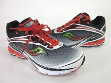 SAUCONY MEN'S CORTANA 2 RUNNING SHOE BLACK/WHITE/RED SYNTHETIC US SZ 9 MEDIUM