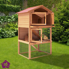 XXL Rabbit Hutch Small Animal Cage Rodent Stall Animals House Model
